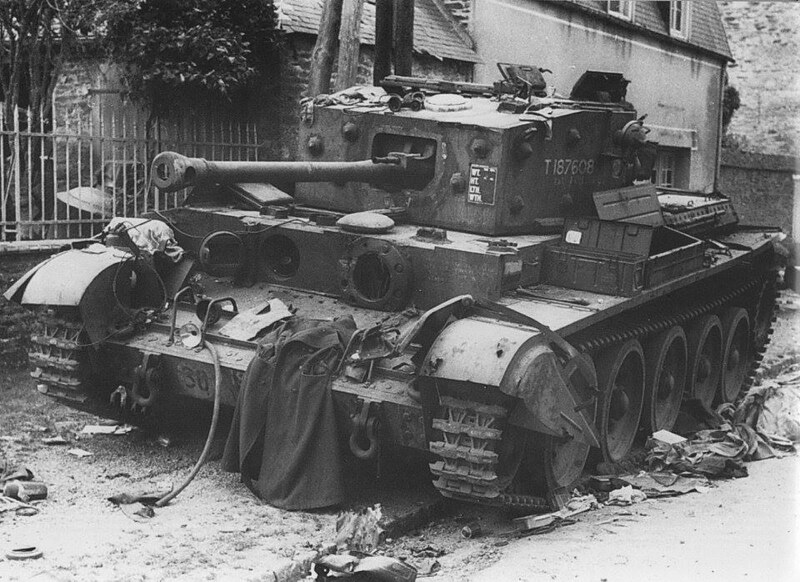 Cromwell IV of the 7 th armored division knocked out