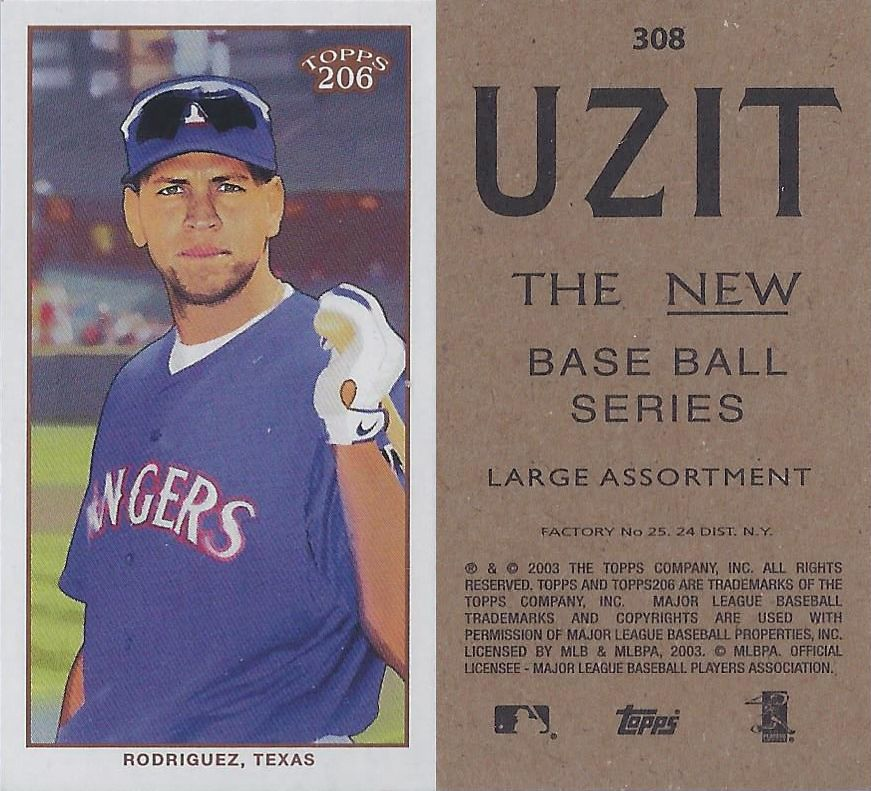 2002 2003 Topps 206 Mini Baseball Card Series 3 Uz