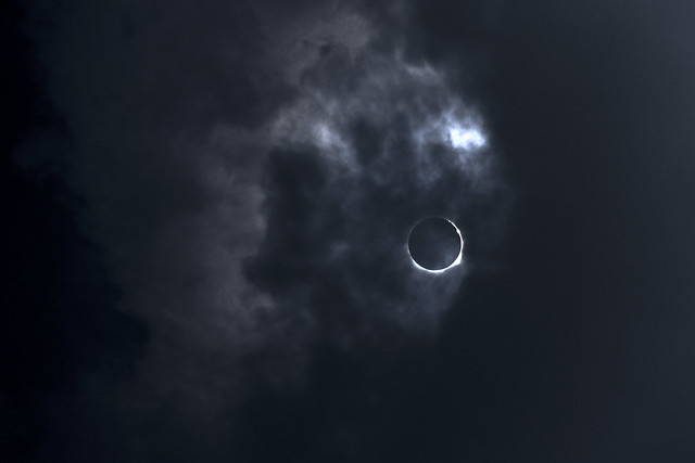 Bailey's Beads effect, 2017 Solar Eclipse, White County, Tennessee