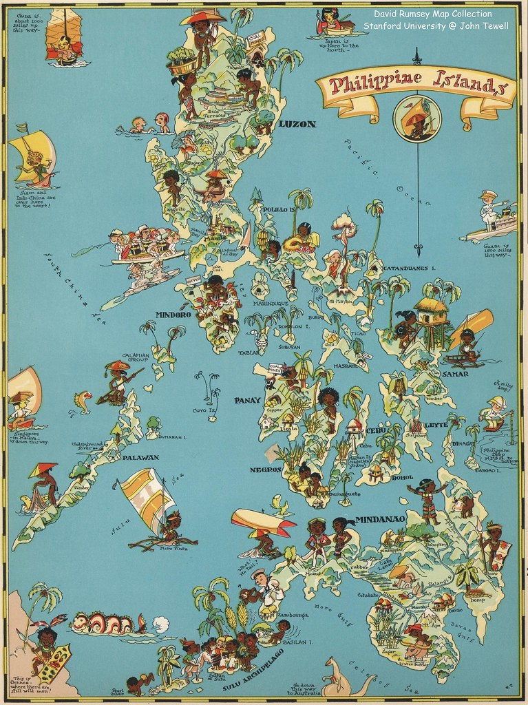 Philippine Islands travel map, 1935 | Text by Frank J. Taylo… | Flickr
