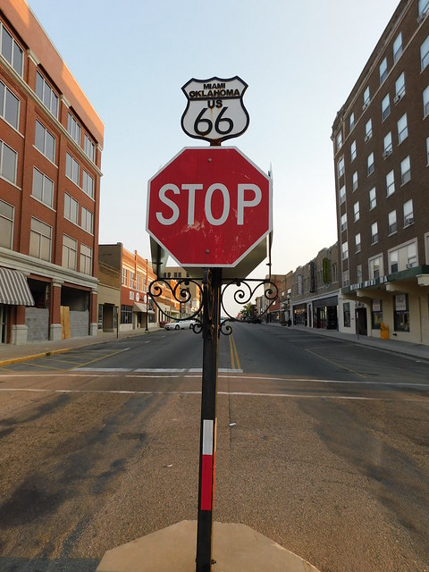 Route 66 Stop Sign