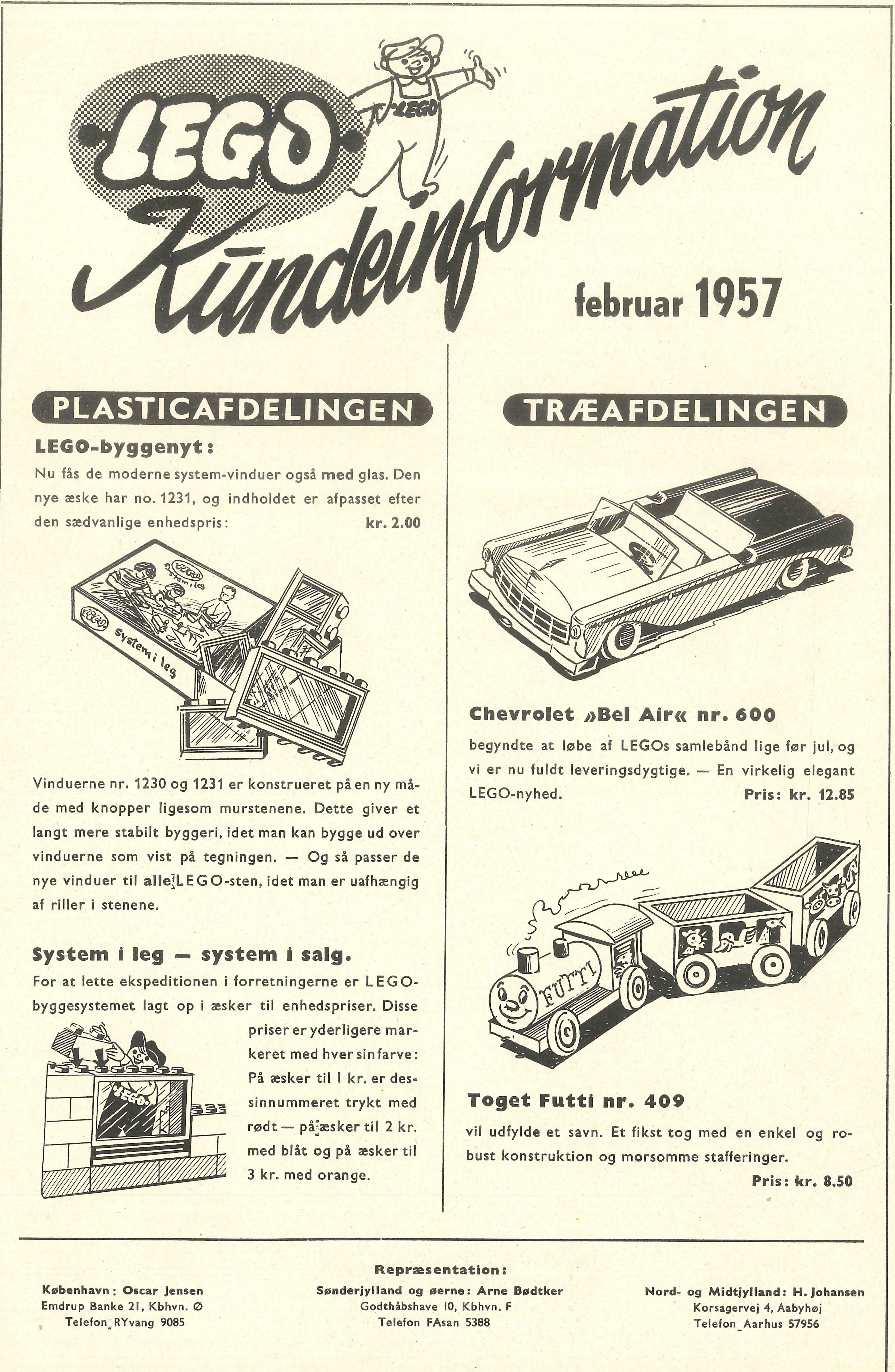 1957 Lego Februar Træ og plastik