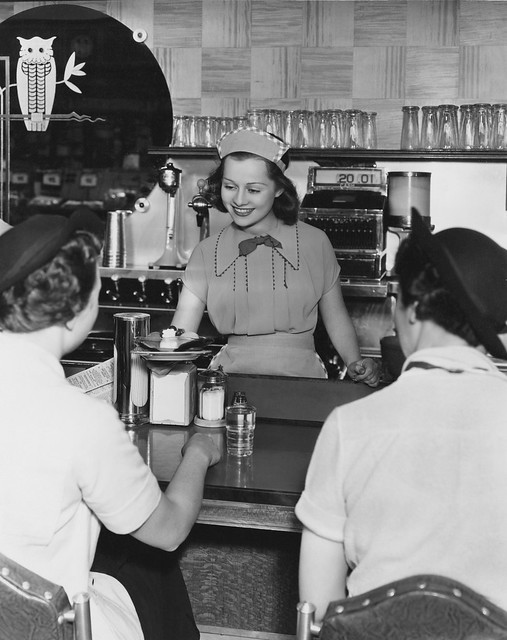 Smiling Lunch Counter Lady 1941