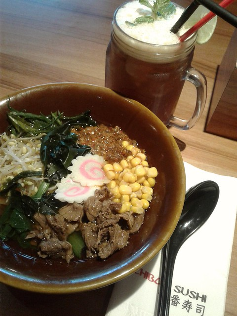 Spicy Ramen and Lychee Tea