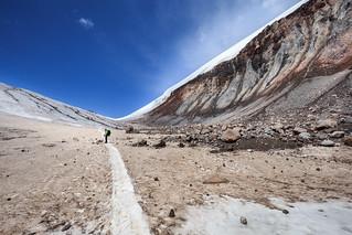Bottom plateau. 4300m n.p.m. Kazbeg. Georgia. | by lskornog