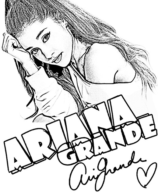 ariana-grande-coloring-page | Coloring page with Ariana ...