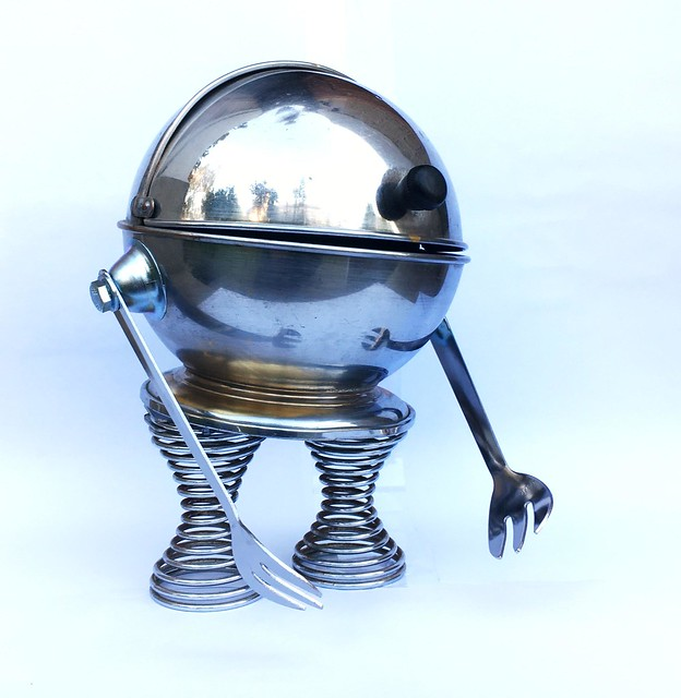 Invader stainless steel sugar bowl