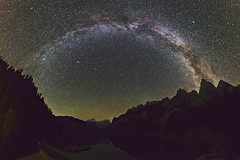 Milky Way over the Gosau Lake