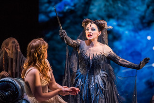 Sabine Devieilhe as Queen of the Night and Siobhan Stagg as Pamina In Die Zauberflöte, The Royal Opera Season 2017/18 © ROH 2017. Photograph by Tristram Kenton.   by Royal Opera House Covent Garden