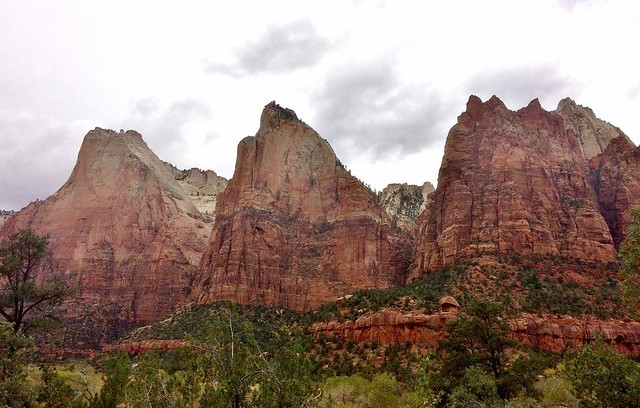 Three Patriarchs of Zion National Park