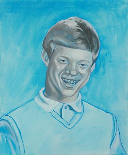 meme bad luck brian under painting | Acrylic on Canvas ...