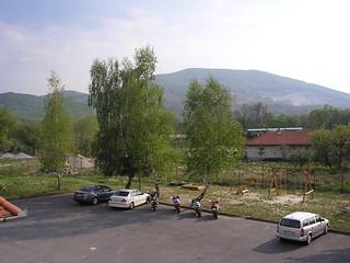 Háttérben a Pálházai kisvasút, 2007. 04. 28.
