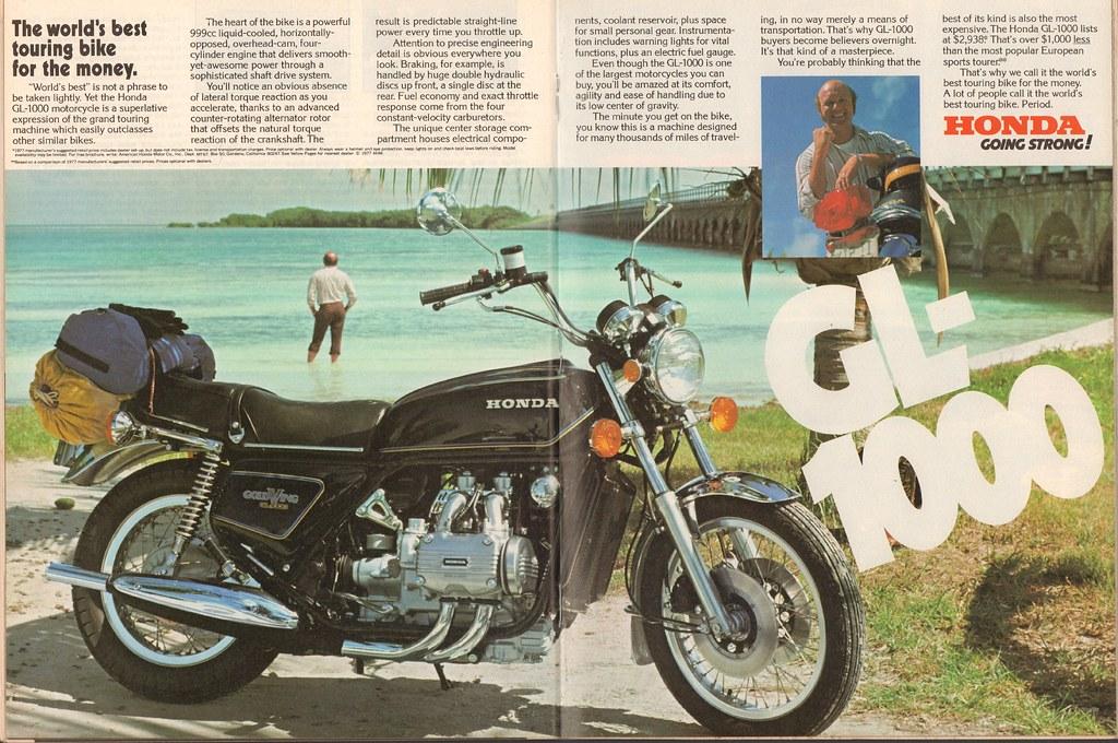 1977 Honda GL-1000 Advertisement Motor Trend June 1977 | Flickr