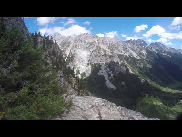 4966 GoPro video panorama looking down on Spider Meadow from our campsite at Larch Knob