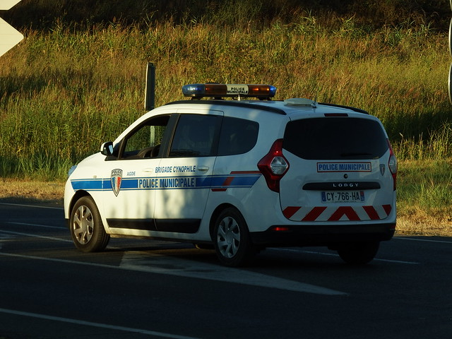 Dacia Lodgy Police Municipale Agde (34 Hérault) 21-08-17a