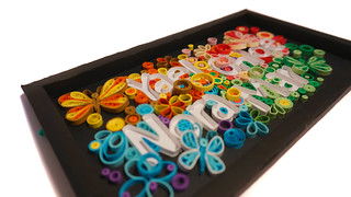 Quilling Name Frame Butterflies Left | by gessamidato