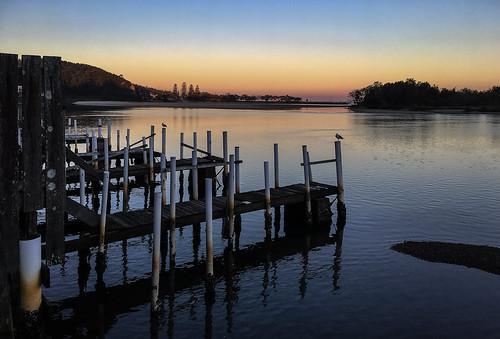 nambuccaheads sunset jetty newsouthwales australia