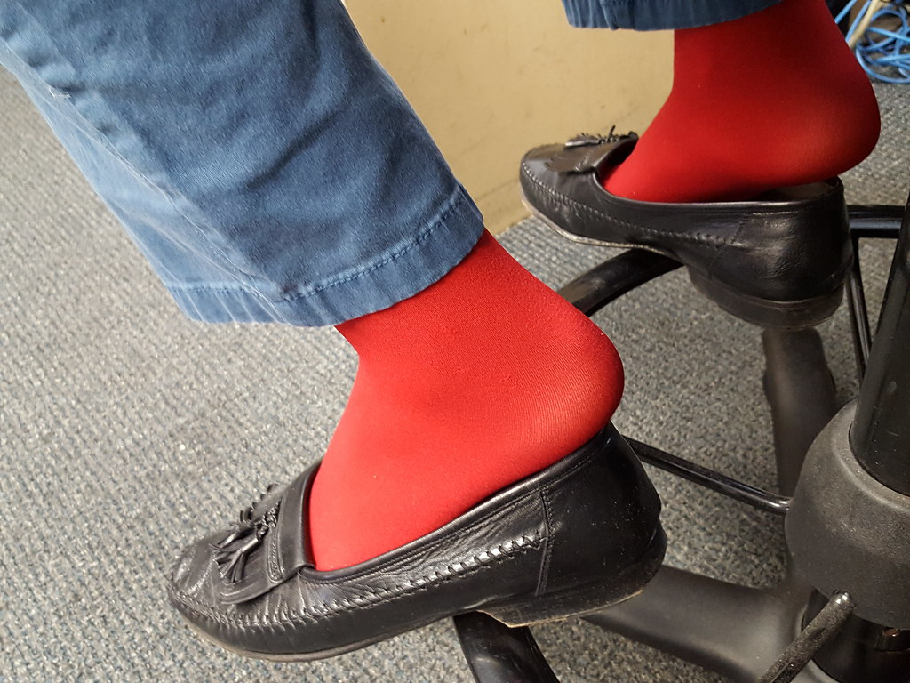 5f62418838cc4b ... and Me today in Black J&M Domani tassel loafers, Red Socks, Navy pants,  and