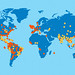 General locations of Zika and Dengue outbreaks around the world.
