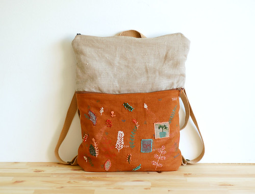 Hand painted and embroidered backpack | by Mundo Flo