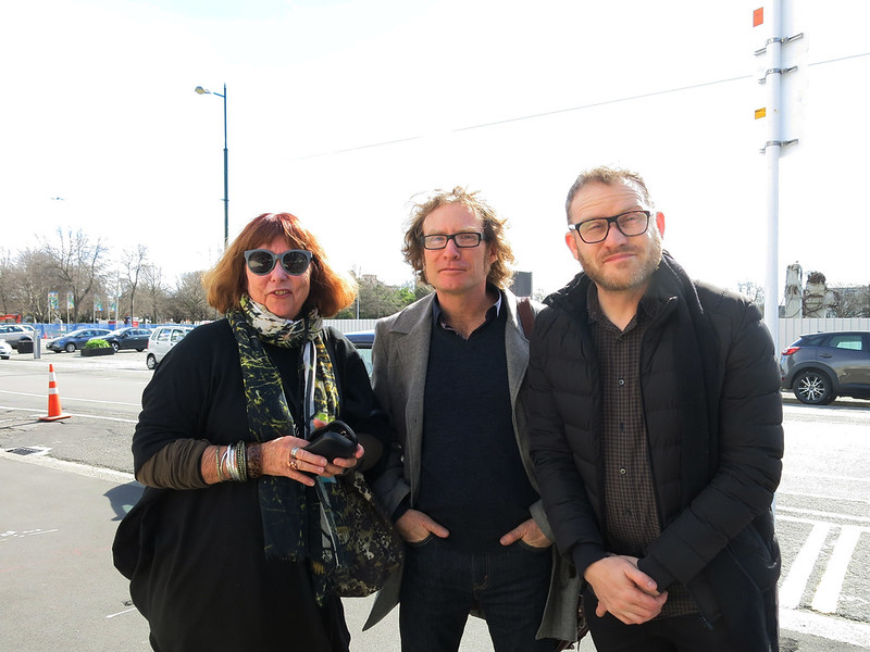 Morrin Rout (WORD Christchurch trustee), Te Radar, and John Safran