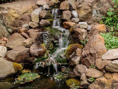 smack53 summit newjersey reevesreedarboretum summer summertime canon powershot g12 canonpowershotg12 waterfalls stream pond rocks water