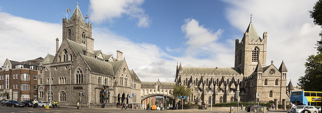 Panorama: Christ Church Cathedral and Dublinia