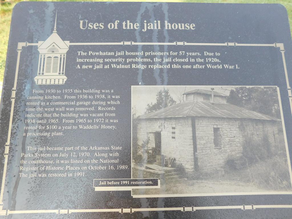 Old Lawrence County Jail Marker | Powhatan, Arkansas | Jimmy