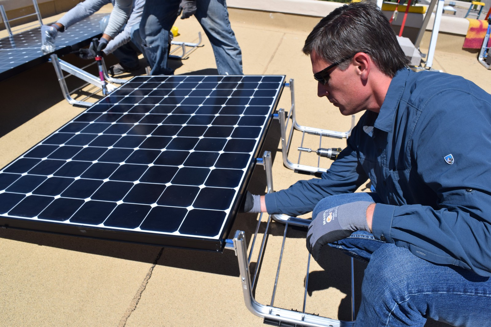 Positive Energy Solar Workers