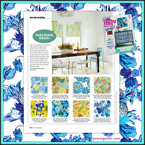 Peacoquette Designs ~ Blueming Flowers ~ Appearance in HGTV Magazine ~ Sept 2017 | by PeacoquetteDesigns