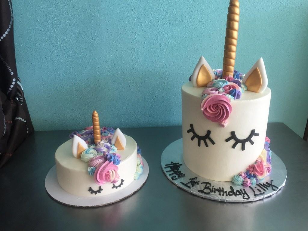Unicorn Amp Baby Unicorn Smash Cake Delicately Delicious