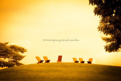 germany june2016 sabbath sunday volkswagenautostadt wolfsburg deckchairs grass relax rest sky sunset recreation norwaygermanyfrance2016 niedersachsen de