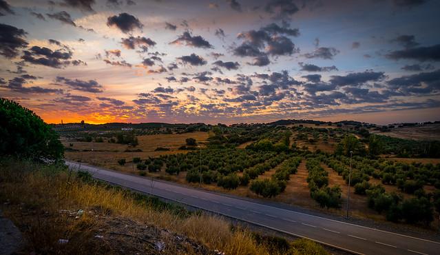 Sunset in Toledo Spain