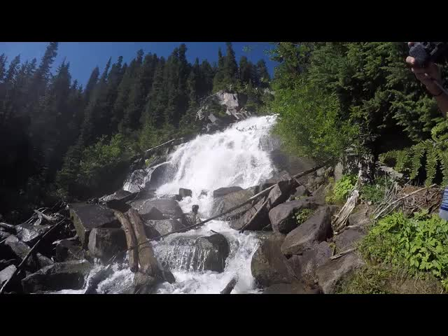 4049 GoPro video of the lower section of the waterfall on Railroad Creek below Lyman Lake