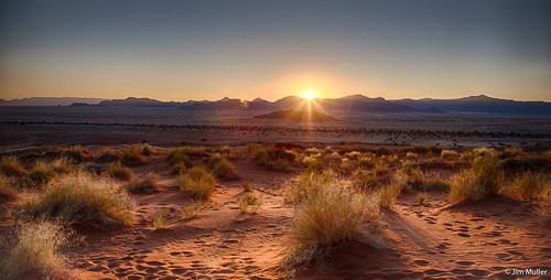 sunrise sand desert