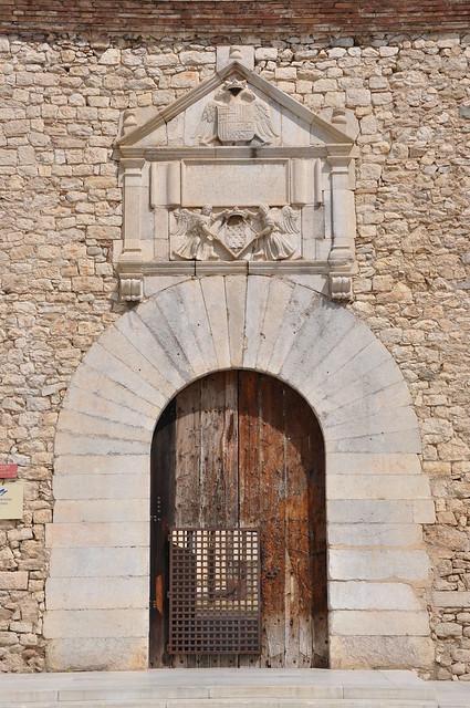 "Girona. University. The eagles building (""edifici de Les àligues""). Façade. 1561-1572"