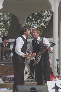Paul and George of The Liverpool Las perform