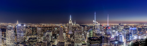 hdr juliencharles manhattan ny nyc newyork observationdeck rockefeller usa bluehour coucherdusoleil empirestatebuilding longexposure lumièrebleue night nuit panorama panoramic panoramique poselongue rockfeller rockfellercenter sunset topofrock view