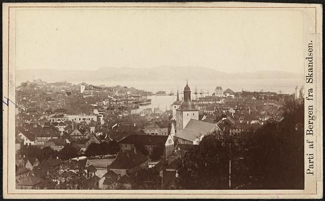 Parti af Bergen fra Skandsen