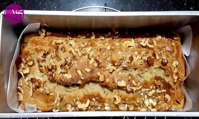 Baked Loaf of Vegan Banana Bread