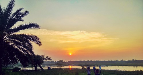 sunset bangladesh evening sky river