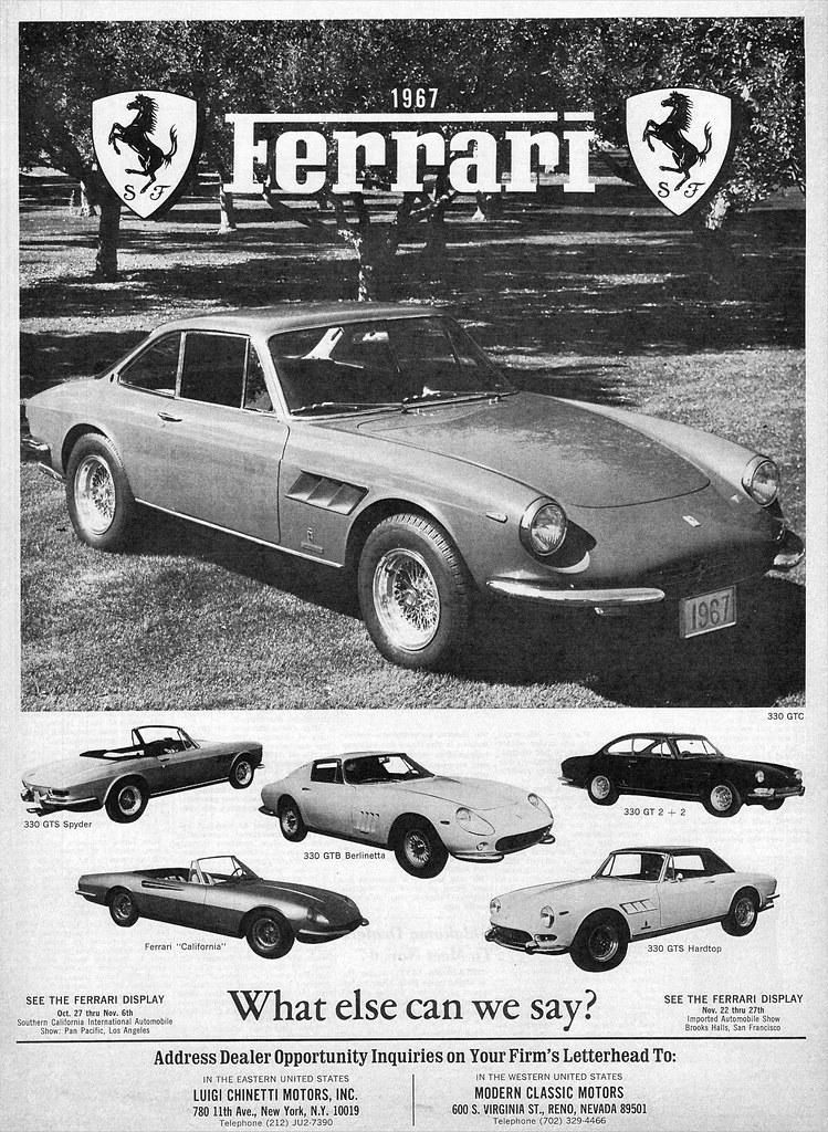1967 Ferrari Ad Alden Jewell Flickr