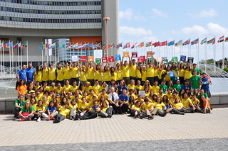 Ruta Inti Youth Group visiting the UN in Vienna