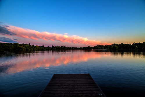 ianwright 2017 blip finwrightphotographycouk mere themere ellesmere lake sunset reflection clam pink blue jetty sky shropshire england 6d canon 24105