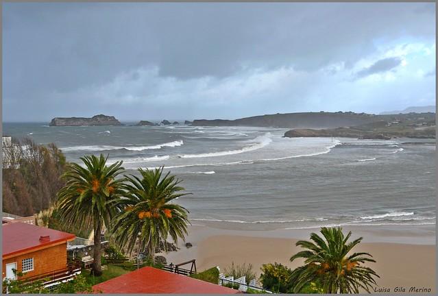 Tormenta en la playa de Suances - Cantabria