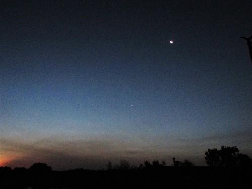 moon sky sunrise belmont west michigan september summer