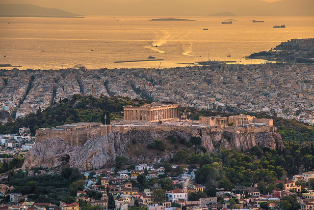 The Acropolis in Athens.Shot taken from Lycabettus hill.