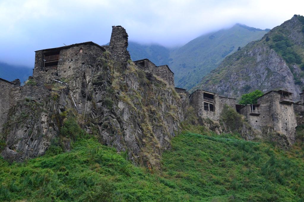 село Шатили в Кавказ