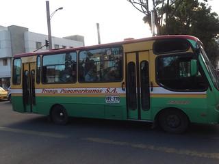 Bus Route E13 in Bogota, Colombia