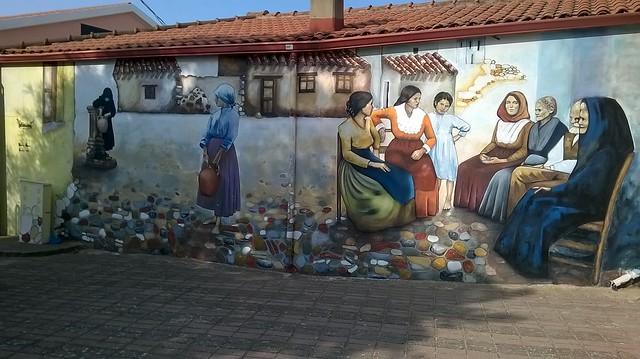 Serbariu (Carbonia) 08/09/2017: Mural Painting By Debora Diana / Murales opera di Debora Diana